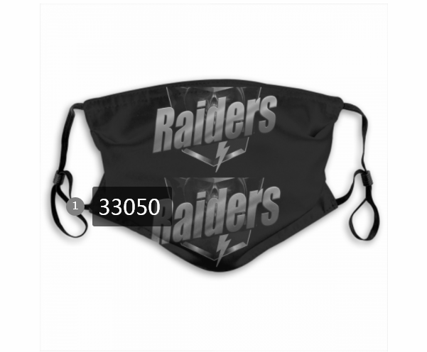 Cheap New 2021 NFL Oakland Raiders 55 Dust mask with filter
