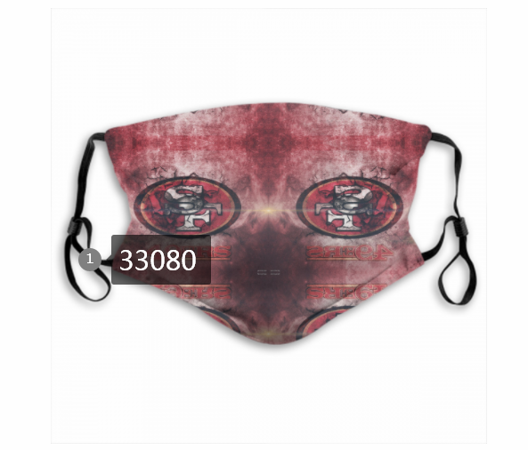 Cheap New 2021 NFL San Francisco 49ers 29 Dust mask with filter