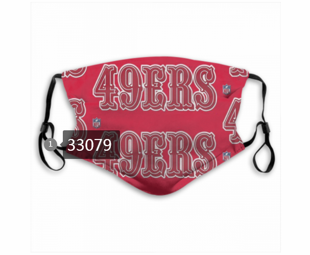 Cheap New 2021 NFL San Francisco 49ers 30 Dust mask with filter