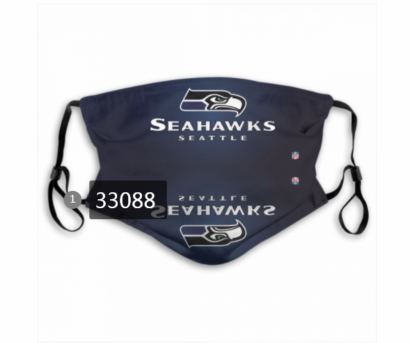 Wholesale New 2021 NFL Seattle Seahawks 22 Dust mask with filter