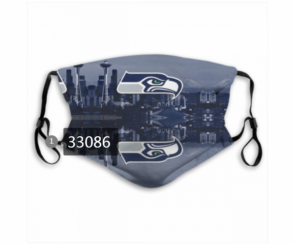 Wholesale New 2021 NFL Seattle Seahawks 24 Dust mask with filter