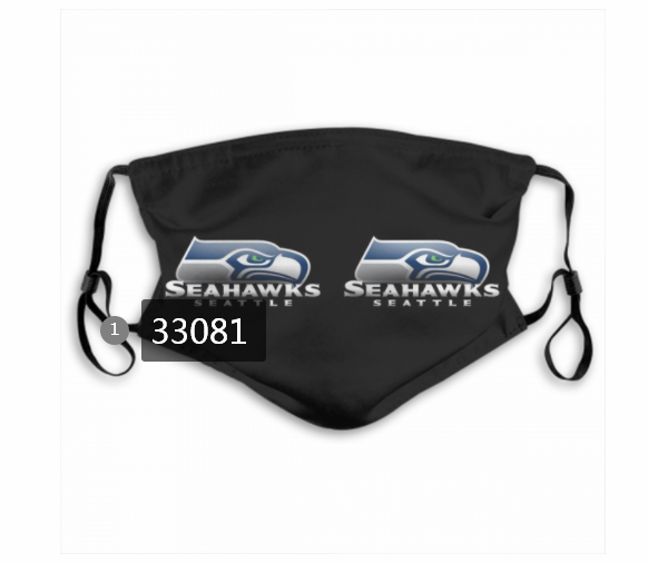 Wholesale New 2021 NFL Seattle Seahawks 28 Dust mask with filter