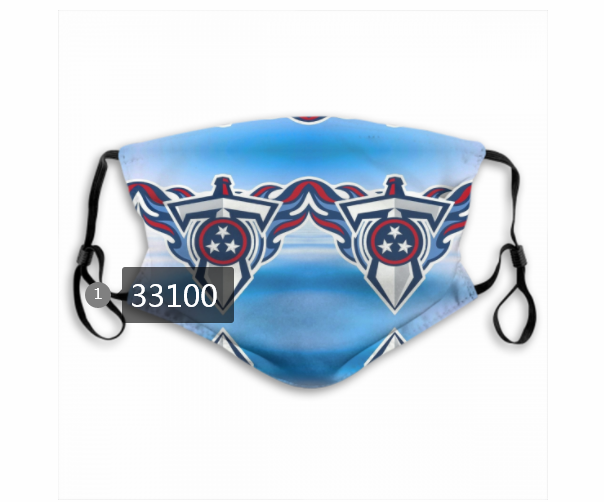New 2021 NFL Tennessee Titans 10 Dust mask with filter