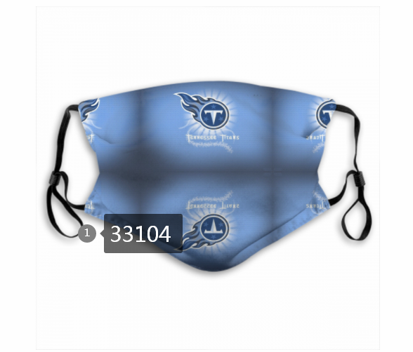 New 2021 NFL Tennessee Titans 6 Dust mask with filter