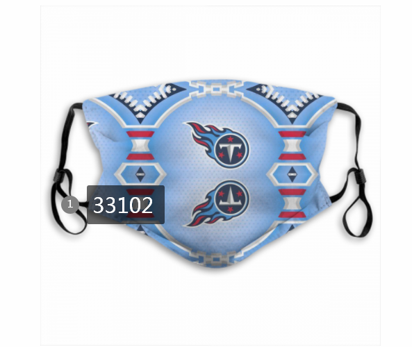 New 2021 NFL Tennessee Titans 8 Dust mask with filter