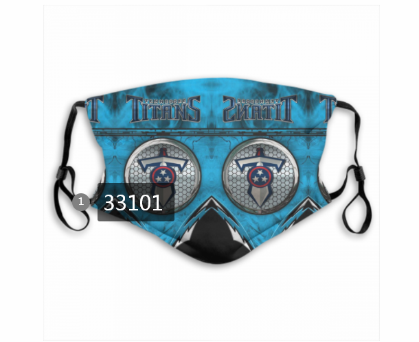 New 2021 NFL Tennessee Titans 9 Dust mask with filter