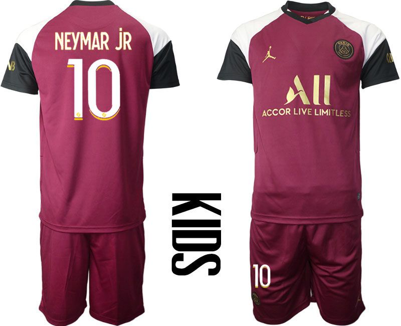 Cheap Youth 2020-2021 club Paris St German away 10 red Soccer Jerseys
