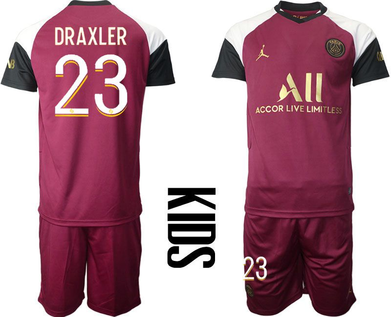 Wholesale Youth 2020-2021 club Paris St German away 23 red Soccer Jerseys