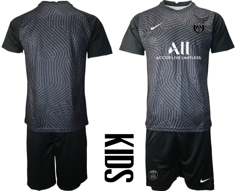Wholesale Youth 2020-2021 club Paris St German black goalkeeper Soccer Jerseys