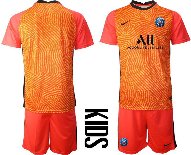 Wholesale Youth 2020-2021 club Paris St German red goalkeeper Soccer Jerseys