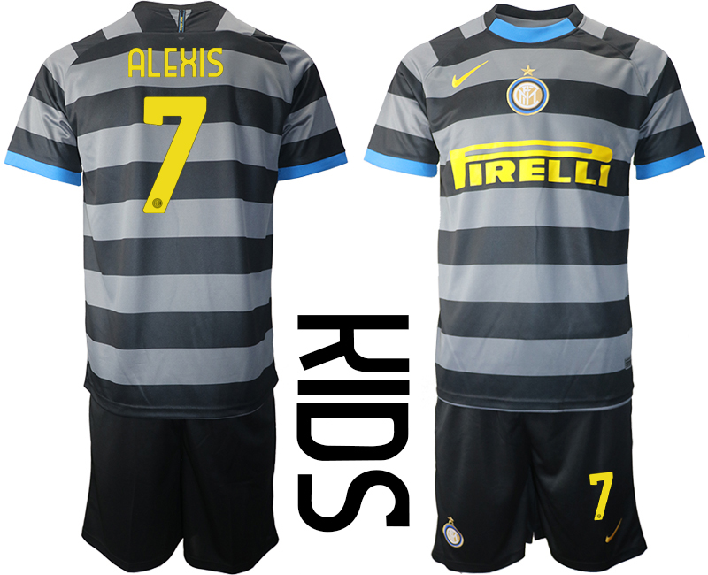 Wholesale 2021 Inter Milan Third Soccer Jersey youth 7 soccer jerseys