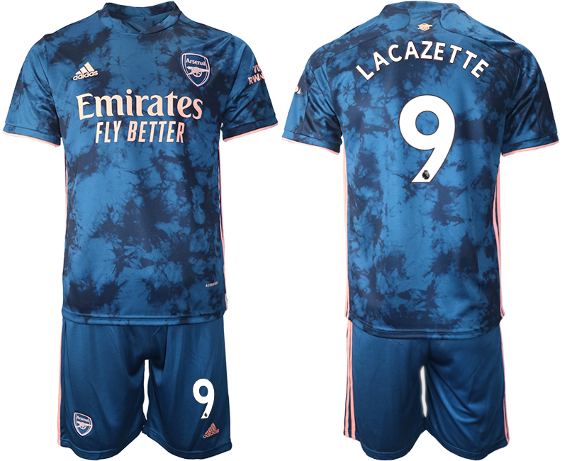 Wholesale 2021 Men Arsenal away 9 soccer jerseys