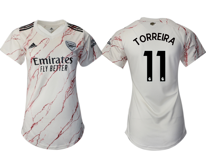 Wholesale 2021 Men Arsenal away aaa version womens 11 soccer jerseys