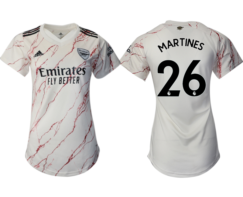 Wholesale 2021 Men Arsenal away aaa version womens 26 soccer jerseys