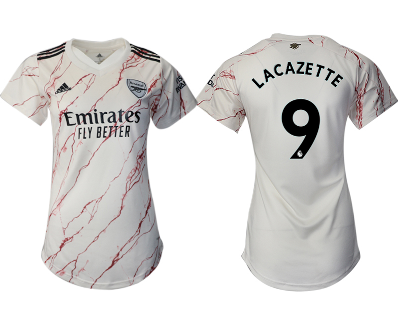 Wholesale 2021 Men Arsenal away aaa version womens 9 soccer jerseys