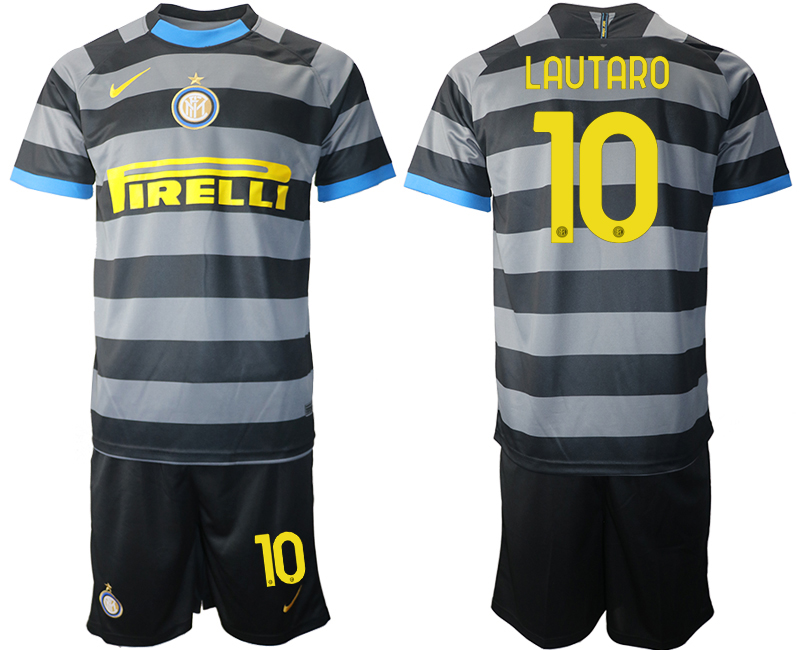 Wholesale 2021 Men Inter Milan Third Soccer Jersey 10 soccer jerseys