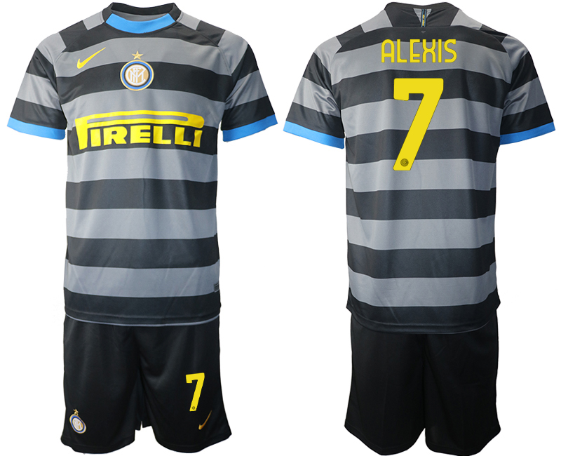 Wholesale 2021 Men Inter Milan Third Soccer Jersey 7 soccer jerseys