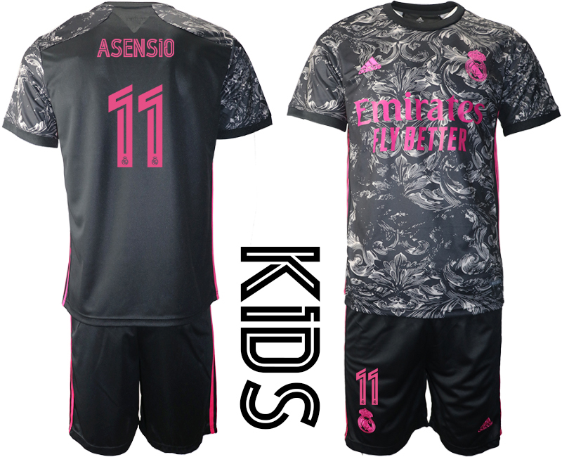 Wholesale 2021 Real Madrid away youth 11 soccer jerseys