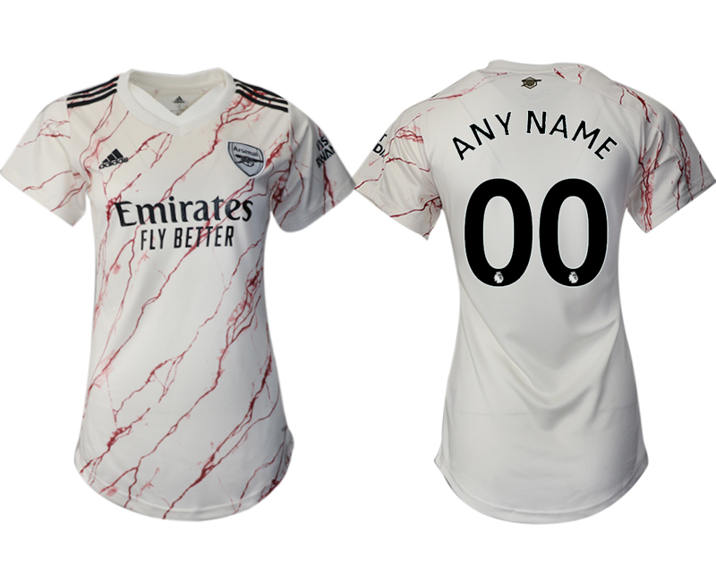 Wholesale Men 2021 Arsenal away aaa version womens custom soccer jerseys