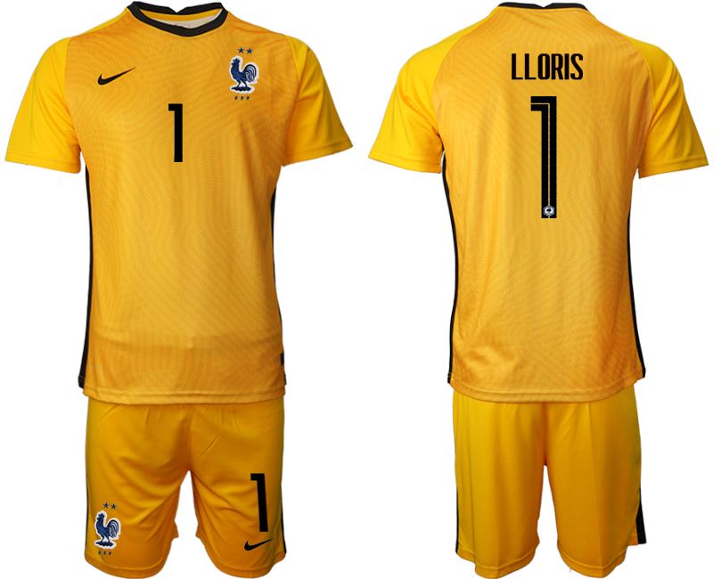 Cheap Men 2021 France yellow goalkeeper 1 soccer jerseys