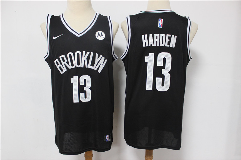 Cheap 2021 Men Brooklyn Nets 13 Harden black Home Stitched NBA Jersey 2