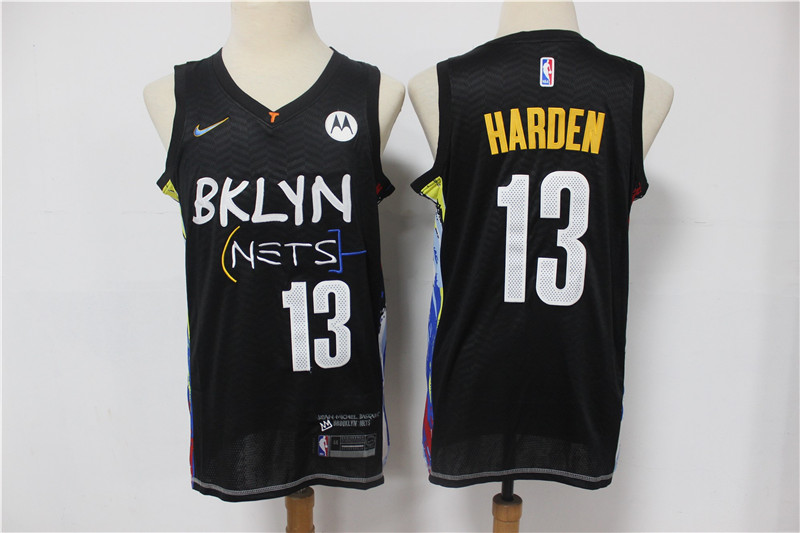 Cheap 2021 Men Brooklyn Nets 13 Harden black Home Stitched NBA Jersey