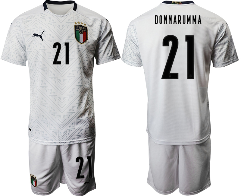 Cheap 2021 Men Italy away 21 new style white soccer jerseys