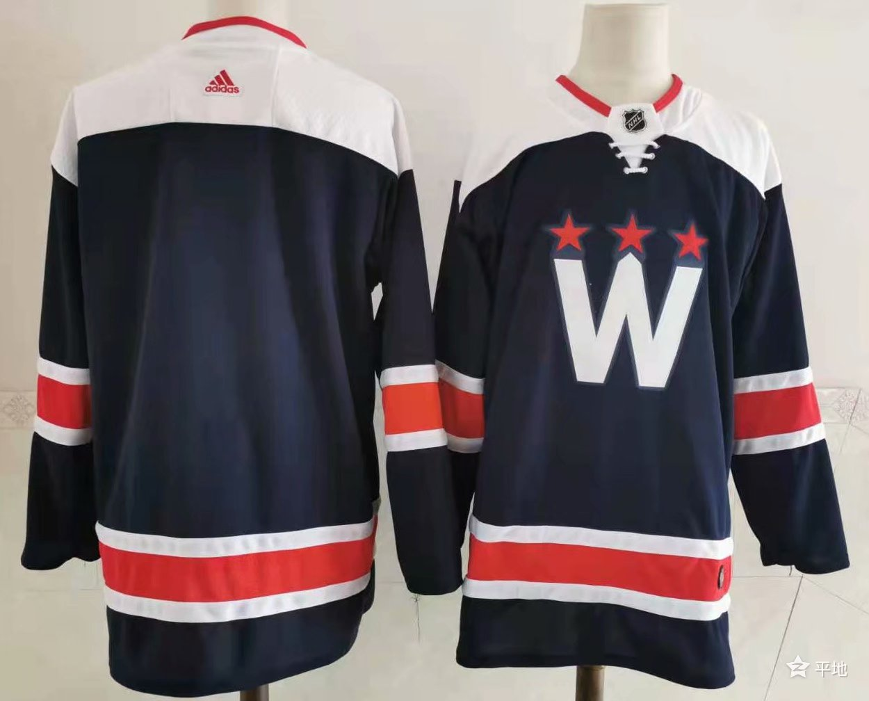 Wholesale 2021 Men Washington Capitals Customized blue Adidas Hockey Stitched NHL Jerseys