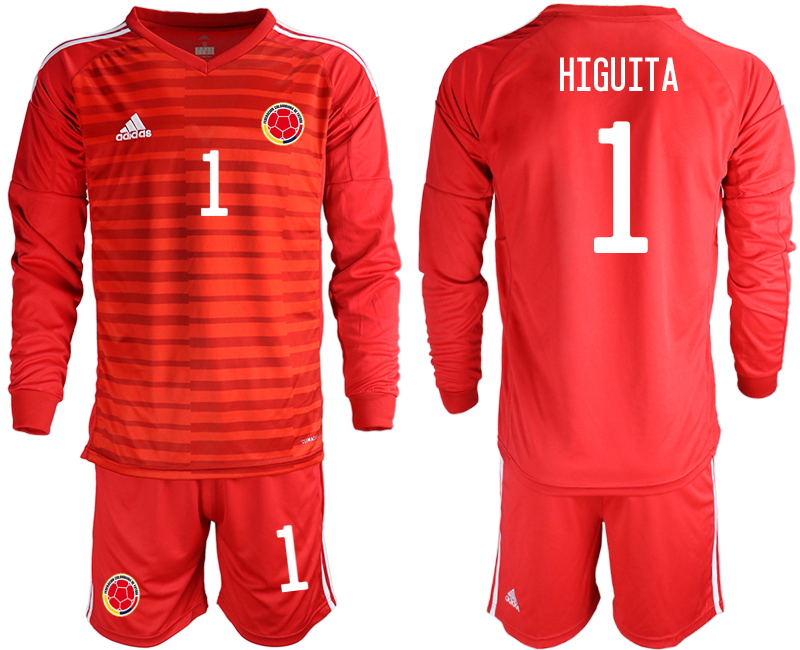 Cheap Men 2020-2021 Season National team Colombia goalkeeper Long sleeve red 1 Soccer Jersey3
