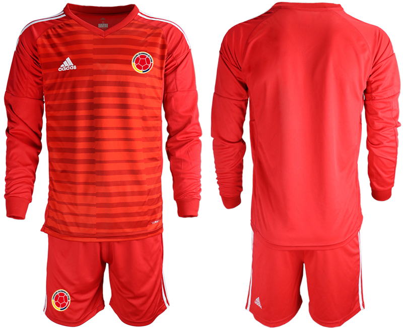 Cheap Men 2020-2021 Season National team Colombia goalkeeper Long sleeve red Soccer Jersey1