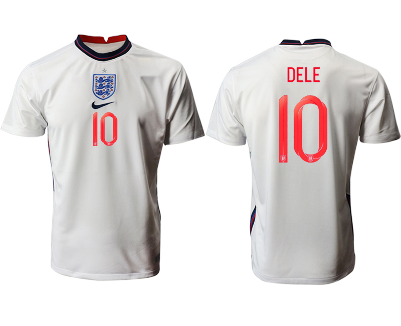 Cheap Men 2021 European Cup England home aaa version white 10 Soccer Jersey