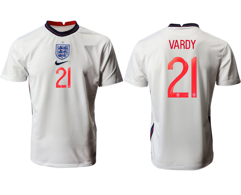 Cheap Men 2021 European Cup England home aaa version white 21 Soccer Jersey