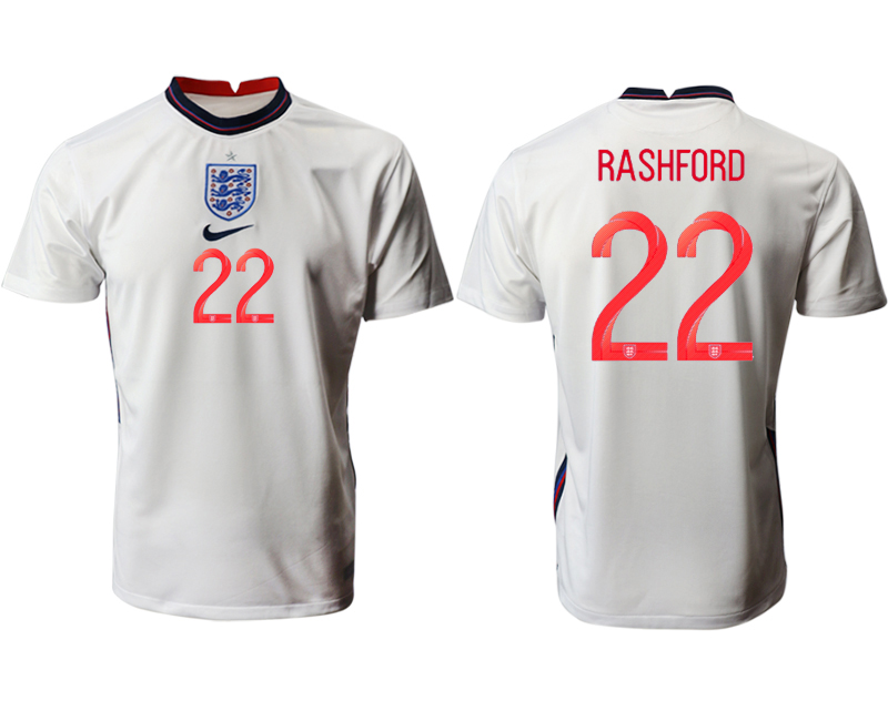 Cheap Men 2021 European Cup England home aaa version white 22 Soccer Jersey