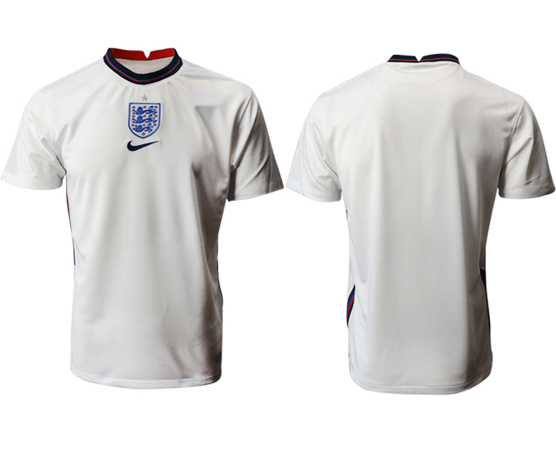 Cheap Men 2021 European Cup England home aaa version white Soccer Jersey