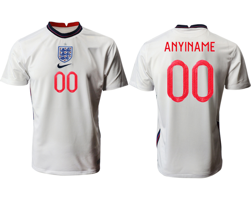Cheap Men 2021 European Cup England home aaa version white customized Soccer Jersey