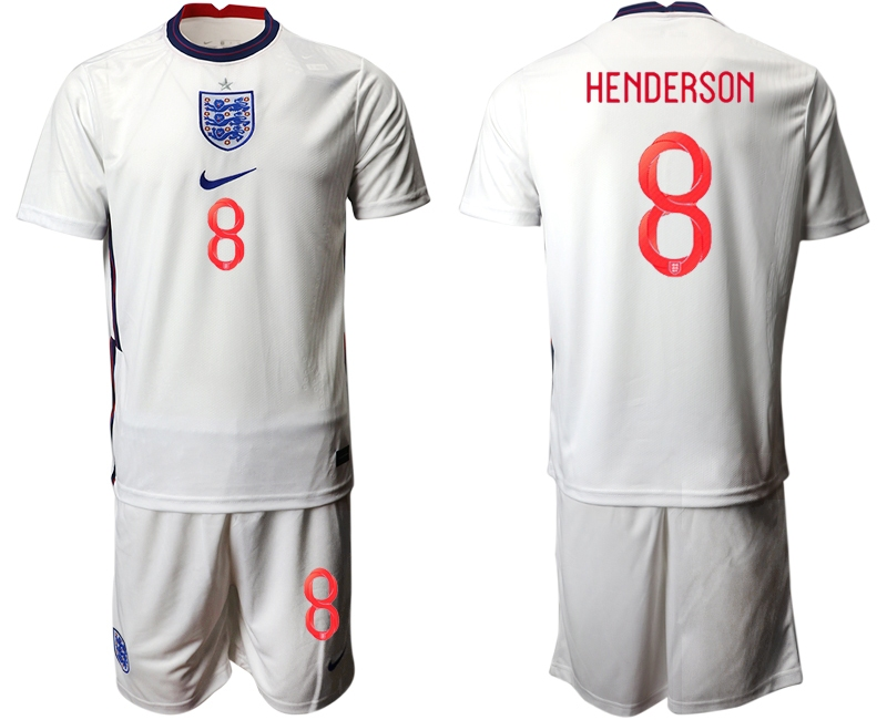 Wholesale Men 2021 European Cup England home white 8 Soccer Jersey
