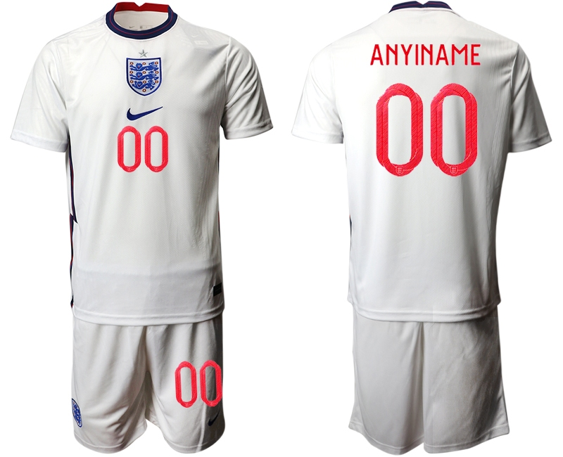 Cheap Men 2021 European Cup England home white customized Soccer Jersey