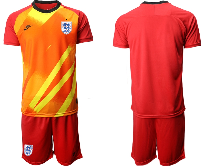 Wholesale Men 2021 European Cup England red goalkeeper Soccer Jersey1