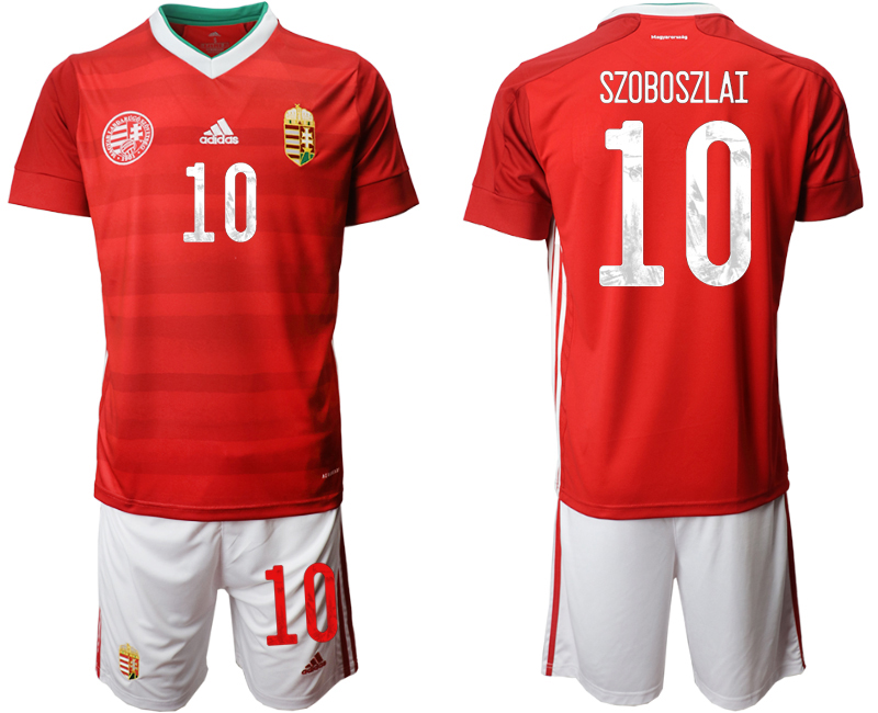 Wholesale Men 2021 European Cup Hungary red home 10 Soccer Jersey