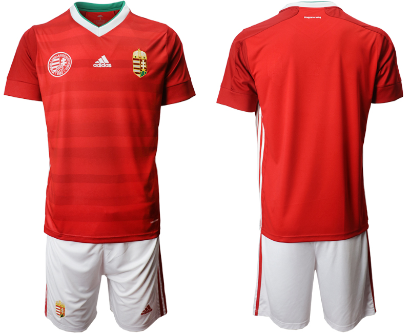 Wholesale Men 2021 European Cup Hungary red home Soccer Jersey