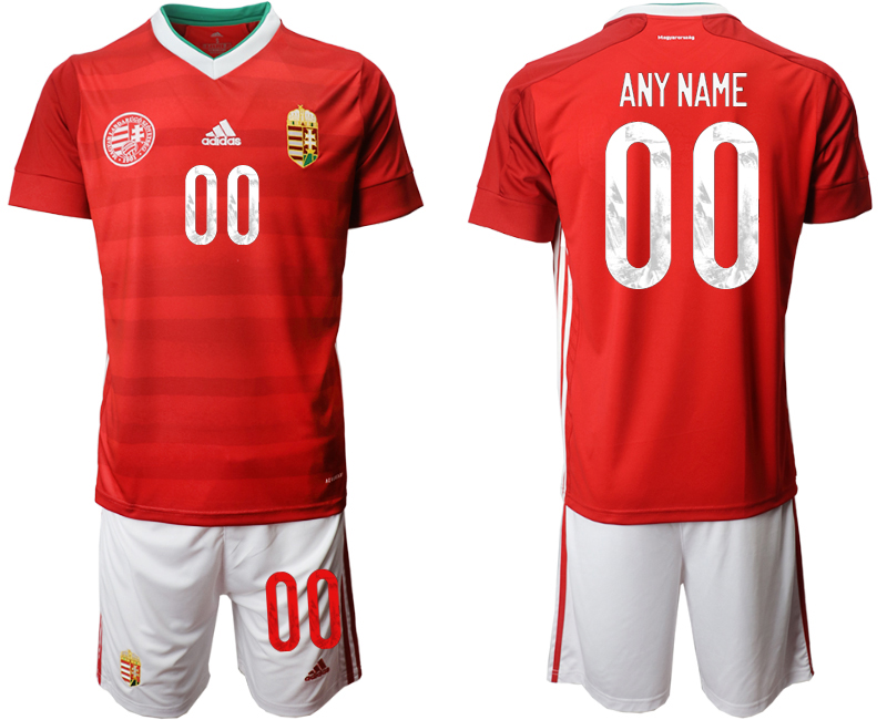 Wholesale Men 2021 European Cup Hungary red home customized Soccer Jersey