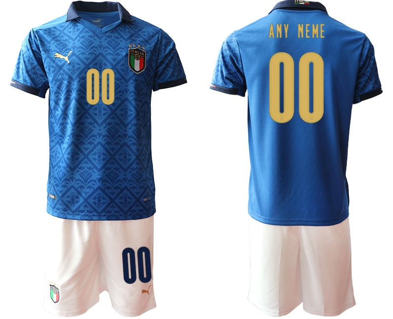 Cheap Men 2021 European Cup Italy blue Soccer Jersey
