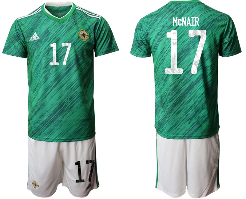 Cheap Men 2021 European Cup Northern Ireland green home 17 Soccer Jersey
