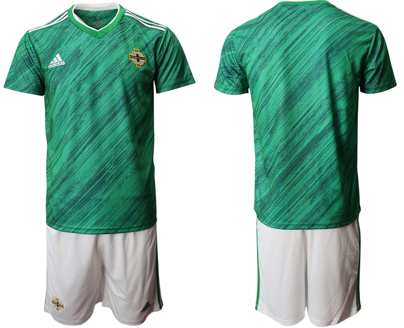 Cheap Men 2021 European Cup Northern Ireland green home Soccer Jersey