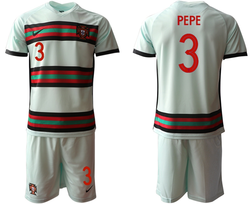 Cheap Men 2021 European Cup Portugal away grey 3 Soccer Jersey1