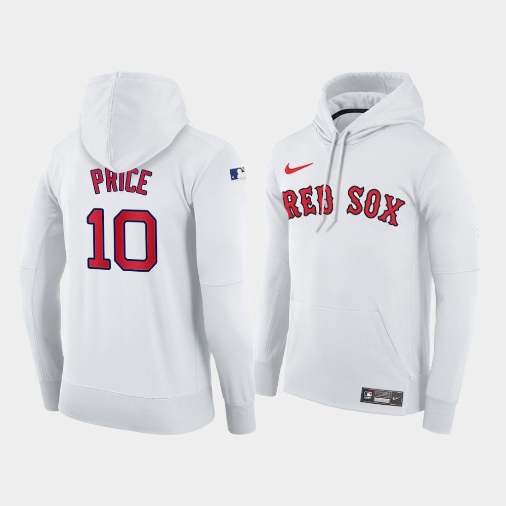 Cheap Men Boston Red Sox 10 Price white home hoodie 2021 MLB Nike Jerseys