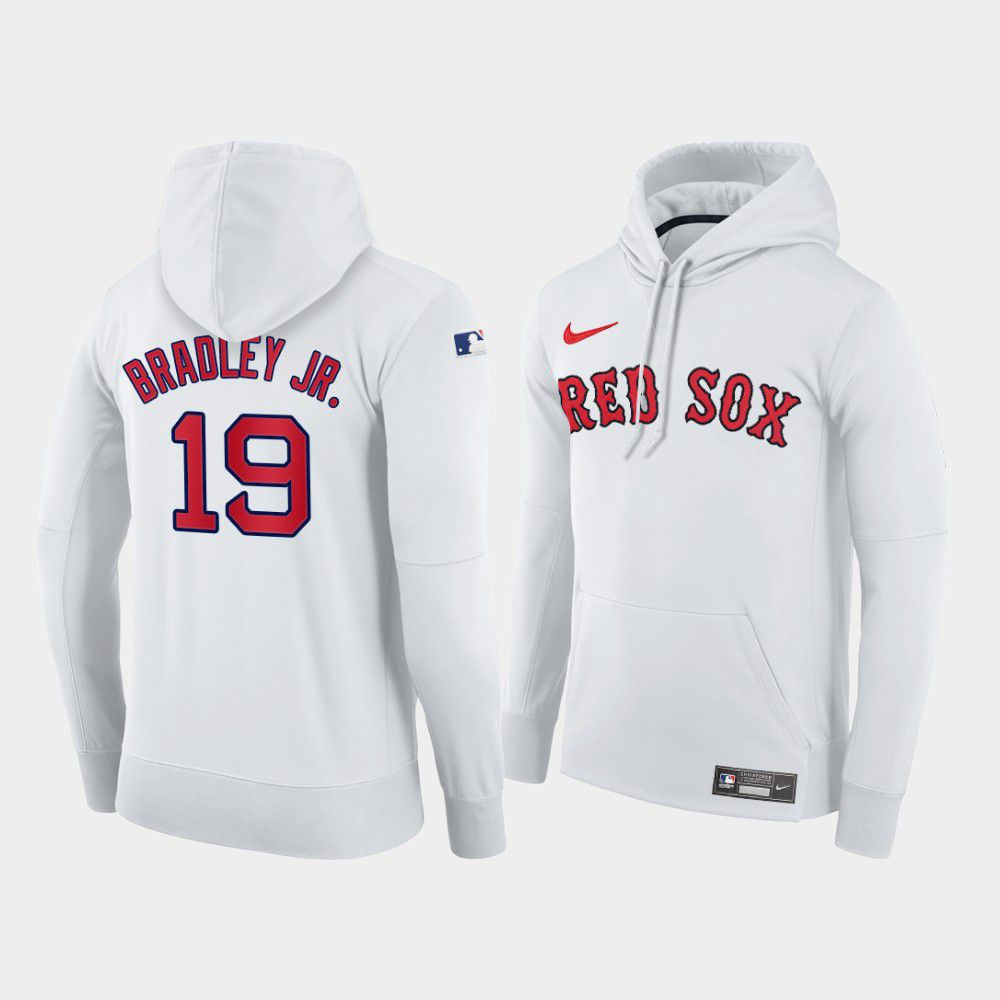 Cheap Men Boston Red Sox 19 Bradley jr white home hoodie 2021 MLB Nike Jerseys