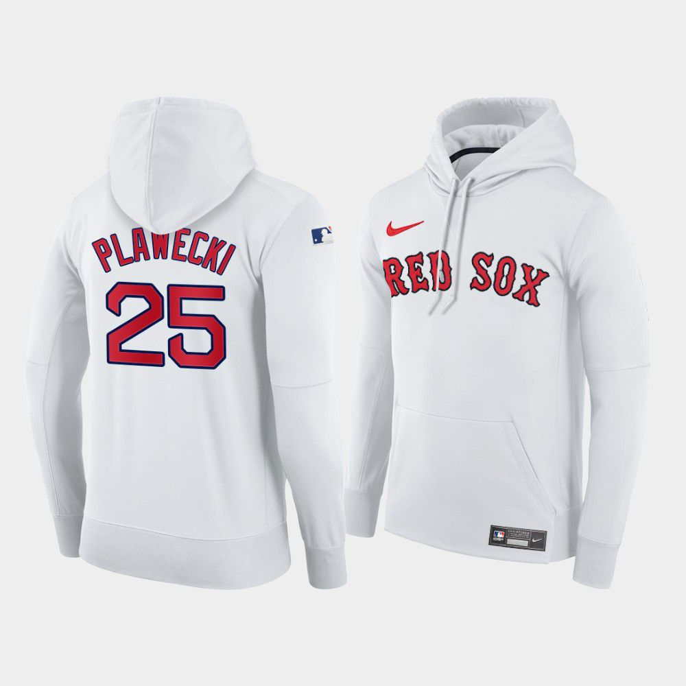 Cheap Men Boston Red Sox 25 Plawecki white home hoodie 2021 MLB Nike Jerseys