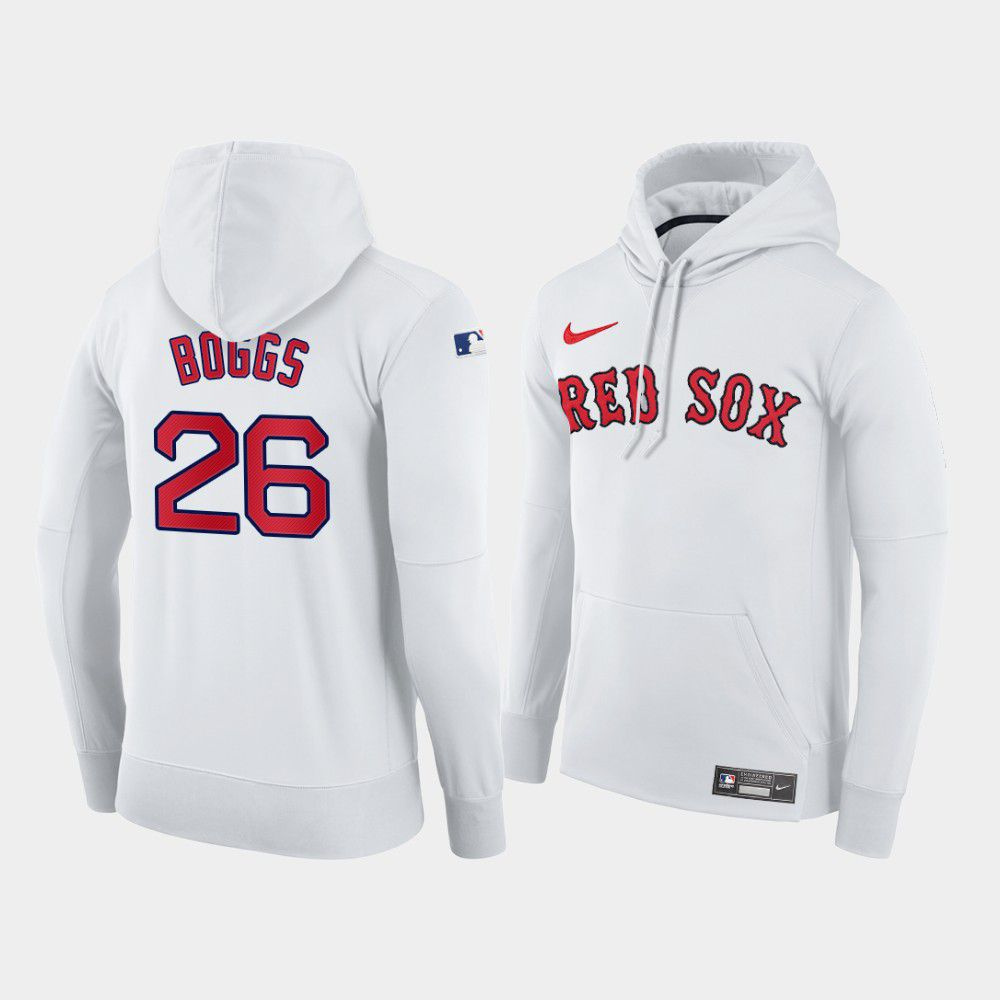 Cheap Men Boston Red Sox 26 Boggs white home hoodie 2021 MLB Nike Jerseys