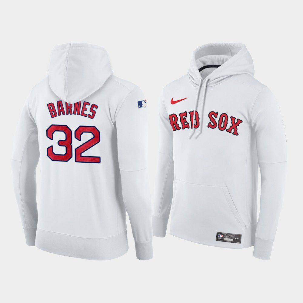 Cheap Men Boston Red Sox 32 Barnes white home hoodie 2021 MLB Nike Jerseys